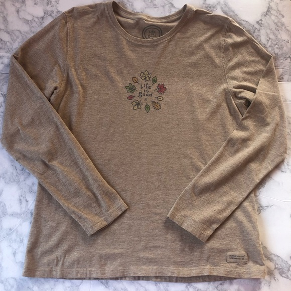 Life Is Good Tops - Life Is Good. Autumn Leaves. Long Sleeve.